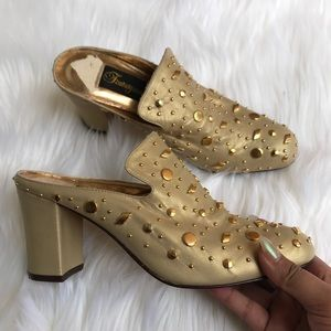 Vintage Fantasy Collection gold mules